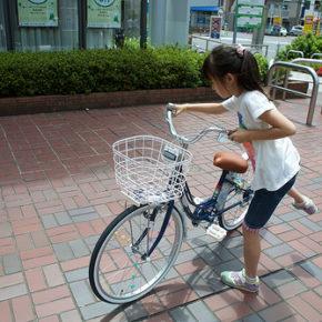 娘は自転車、自分はジョギングが最高
